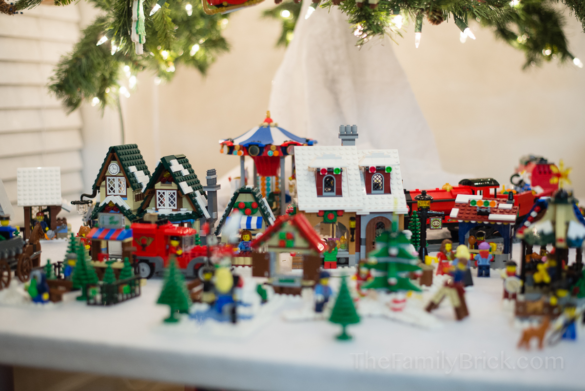 Setting Up Our Lego Winter Village Scene The Family Brick