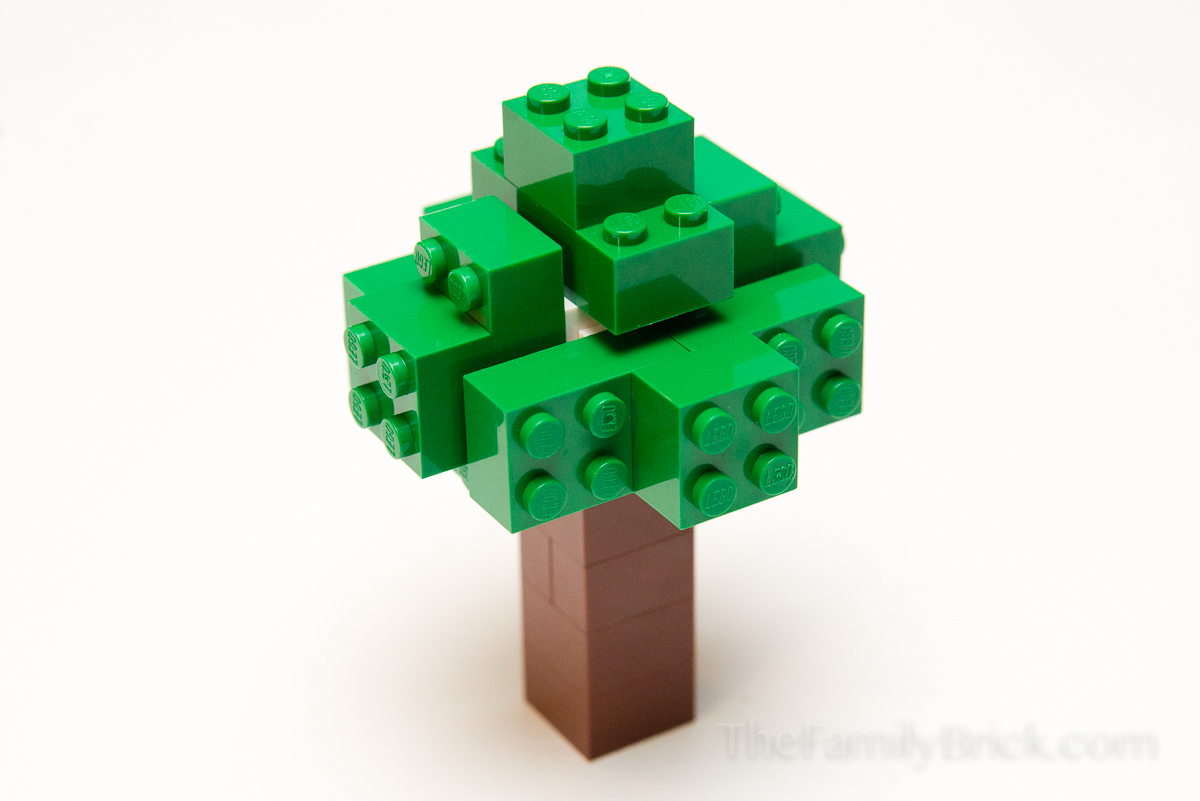Build A Lego Minecraft Tree The Family Brick