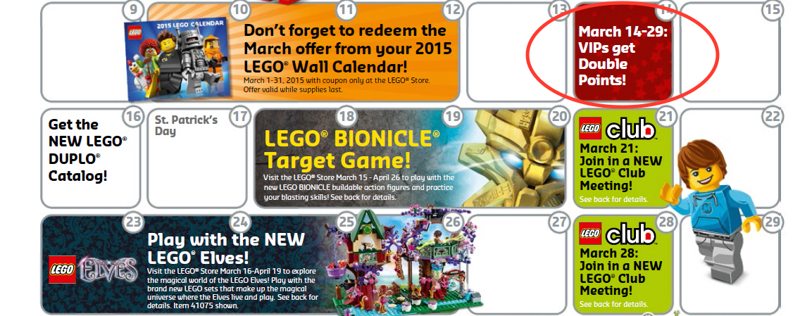 LEGO Double VIP Points Starts Today! - The Family Brick