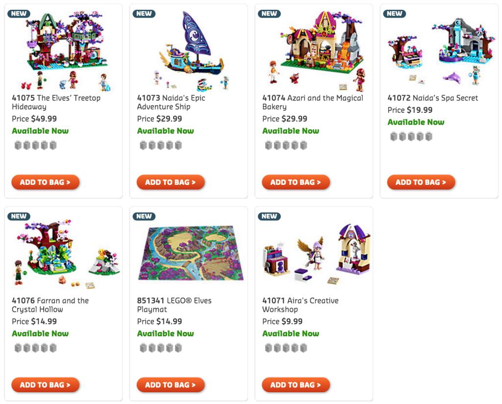 LEGO Elves Sets March 2015