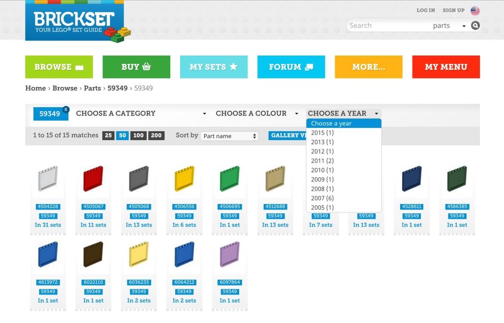 LEGO Wall Element 59349