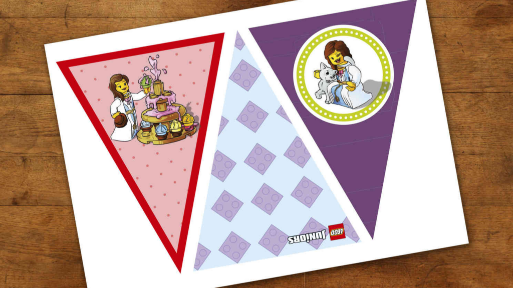 LEGO_Birthday_Flags_Princess_Theme_Printable