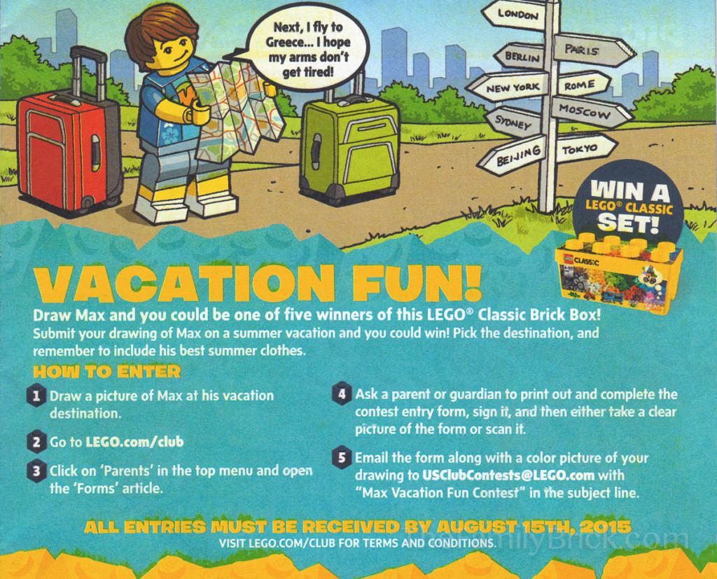 LEGO Club Junior Vacation Fun Classic Brick Box Contest