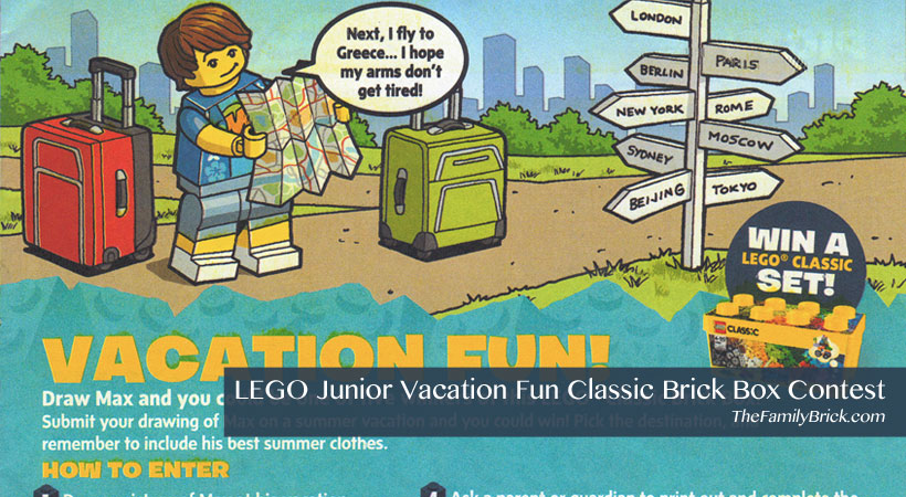 LEGO Junior Vacation Fun Classic Brick Box Contest