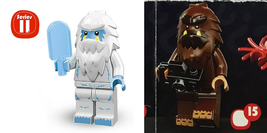 LEGO Minifigures - Series 11 and Series 14 Bigfoot