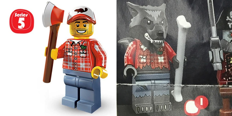 LEGO Minifigures - Series 5 Lumberjack and Series 14 Werewolf