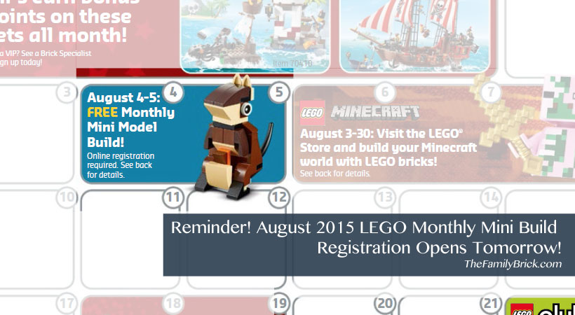 August 2015 LEGO Monthly Mini Build