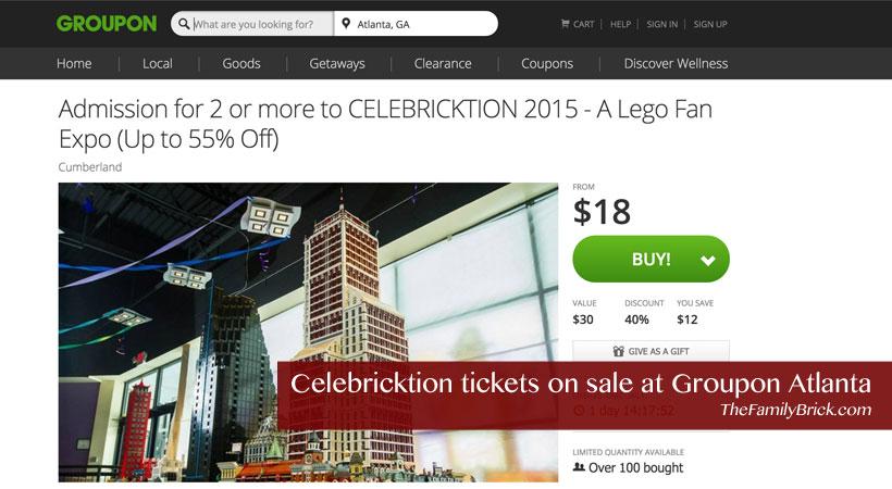 Celebricktion tickets on sale at Groupon Atlanta