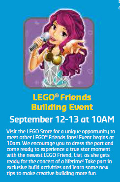 LEGO Friends Building Event Store Calendar Blurb