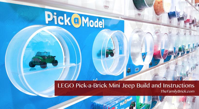 Lego Pick A Brick Mini Jeep Build And Instructions The Family Brick