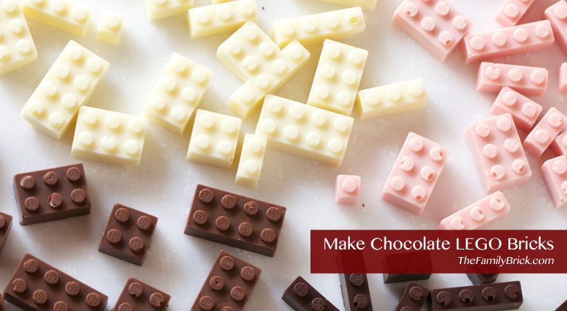 Learn how to make chocolate LEGO bricks!