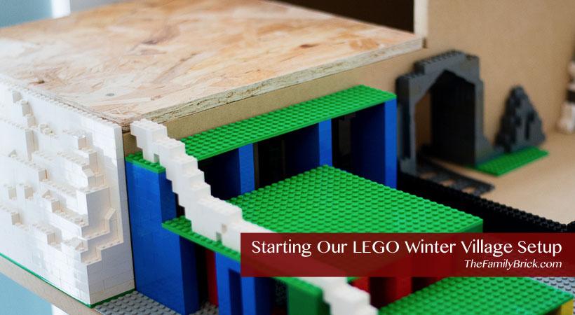 Starting Our LEGO Winter Village Setup