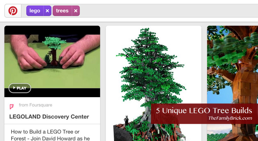 5 Unique LEGo Tree Builds
