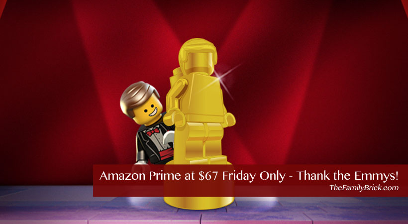 Amazon Prime at $67 Friday Only - Thank the Emmys!