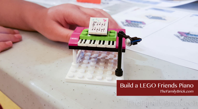 Build a LEGO Friends Piano