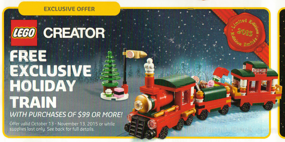 LEGO Creator Exclusive Holiday Train Promo