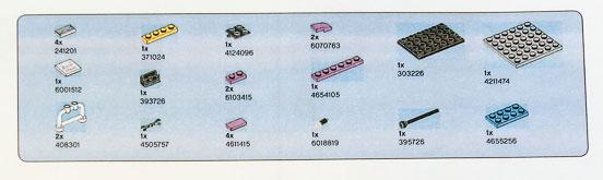 LEGO Friends Piano Parts List
