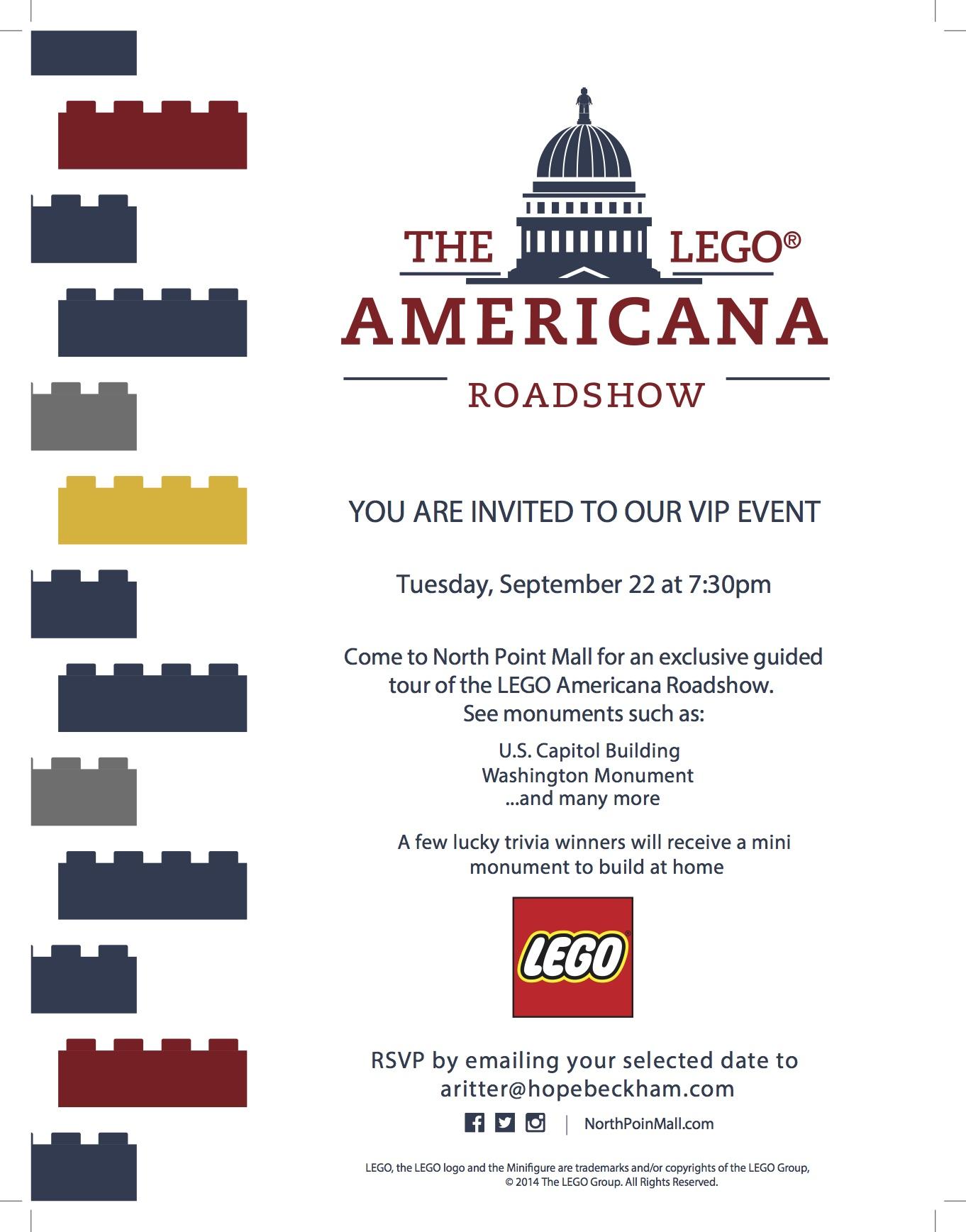 LEGO Americana Roadshow VIP Event Invitation