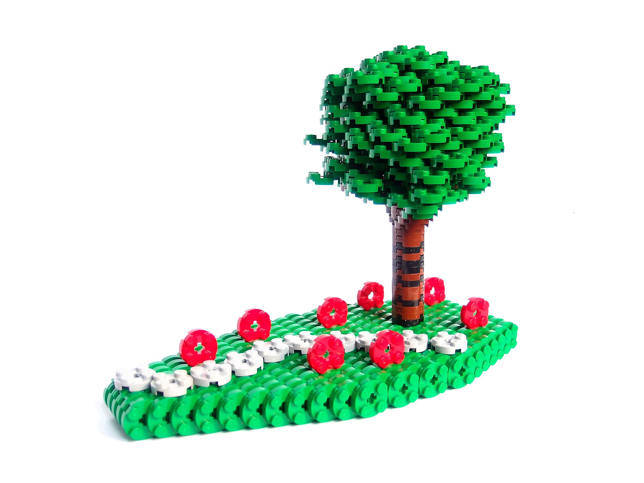 Tree on poppy meadow by Lego_fan on flickr