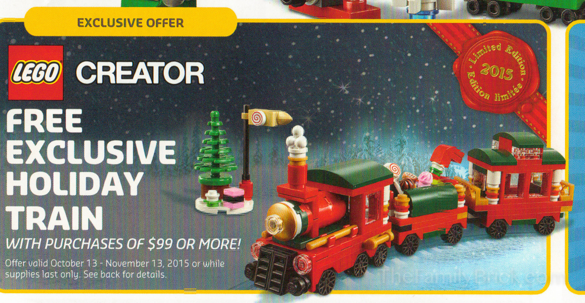 LEGO Exclusive Holiday Train Promo