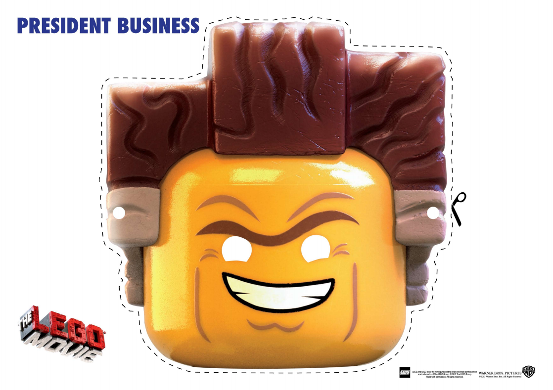 LEGO Movie President Business Mask