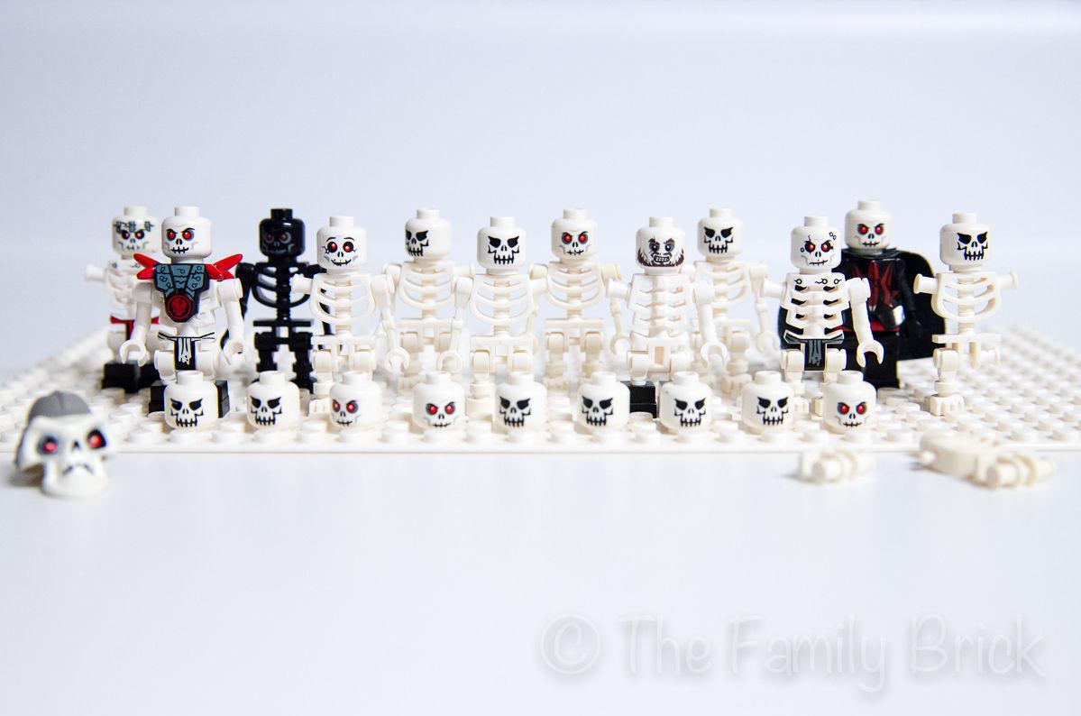 LEGO skeletons black white bonezai frakjaw