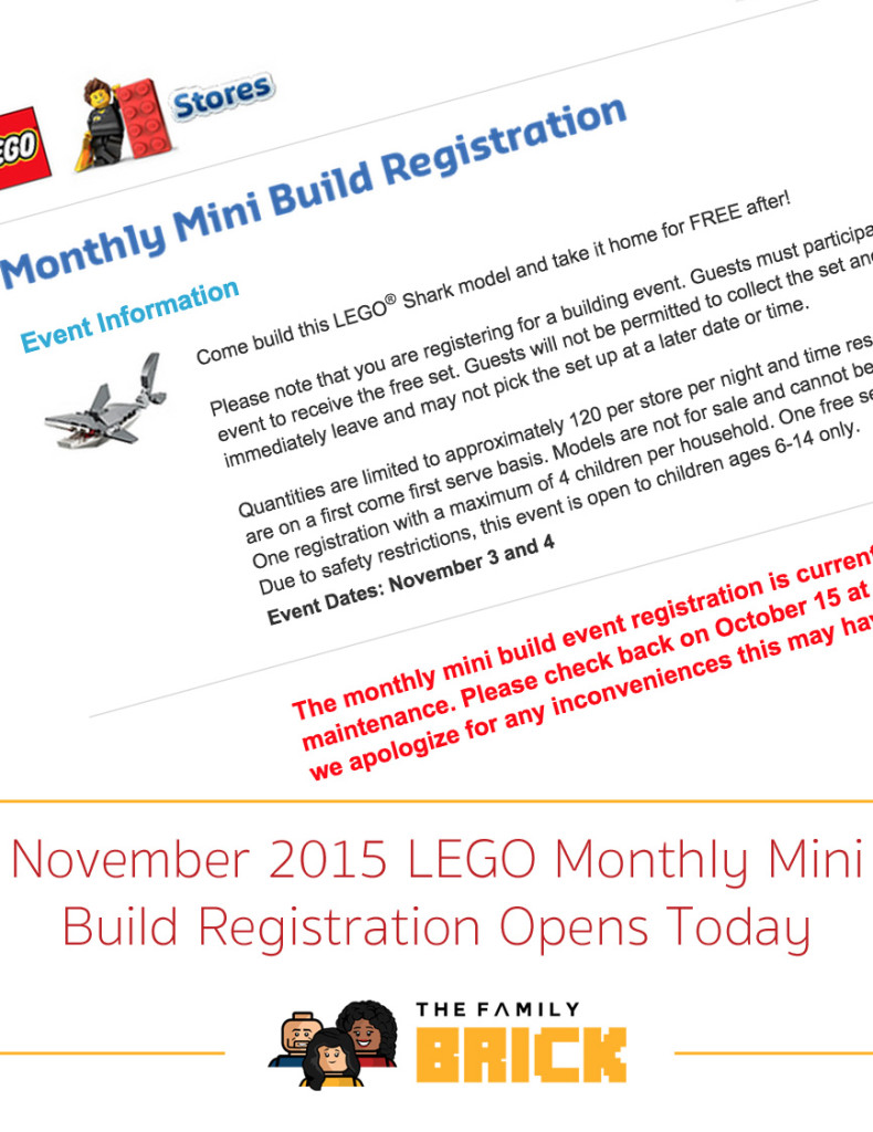 November 2015 LEGO Monthly Mini Build Registration Opens Today
