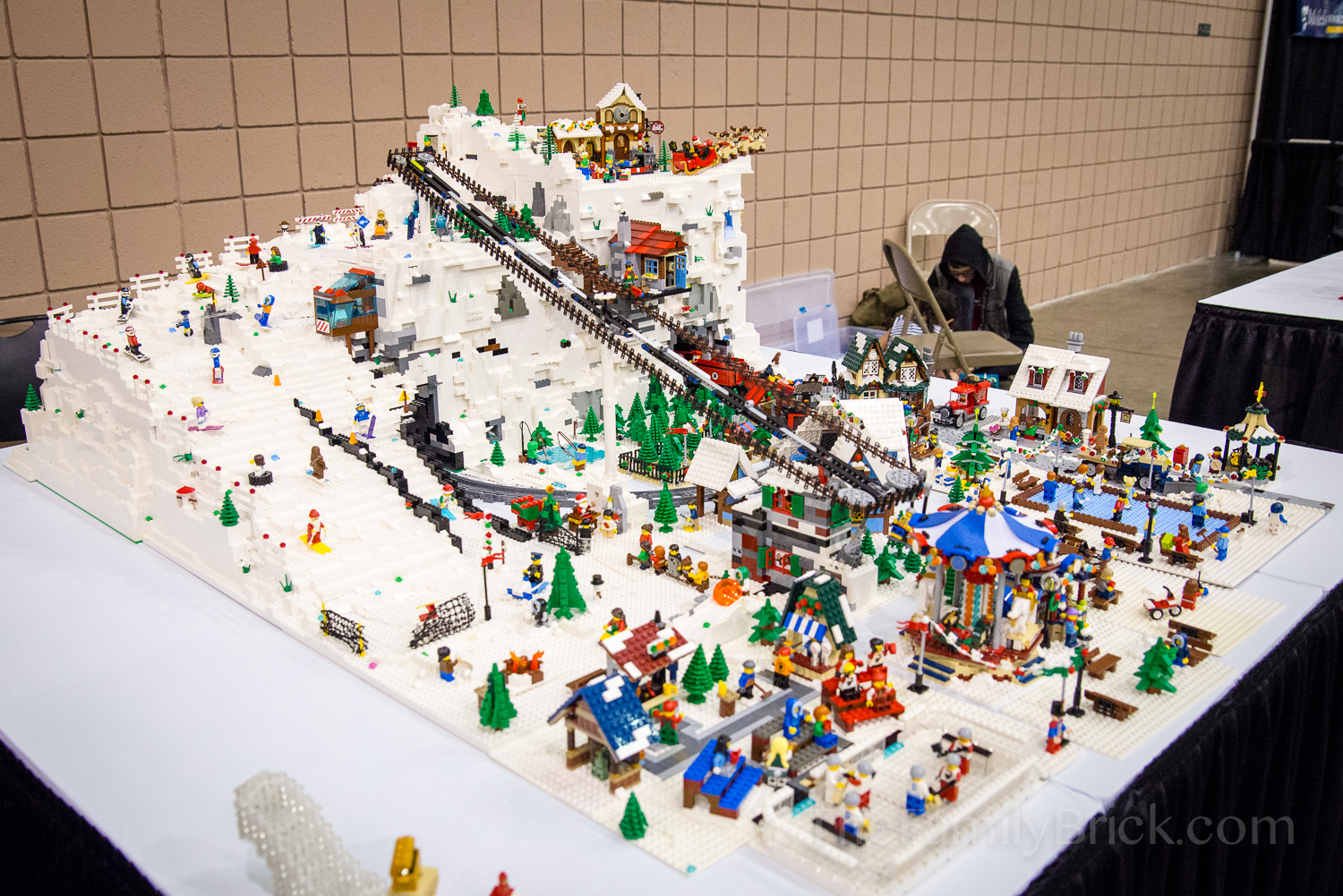 our lego winter village moc