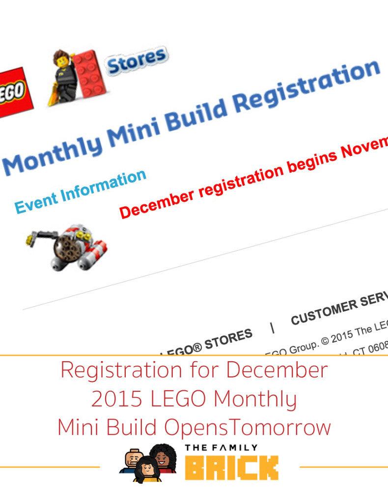 Registration for December 2015 LEGO Monthly Mini Build Opens Tomorrow