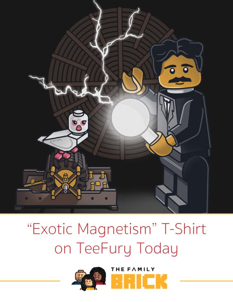 Exotic Magnetism LEGO Tshirt on TeeFury