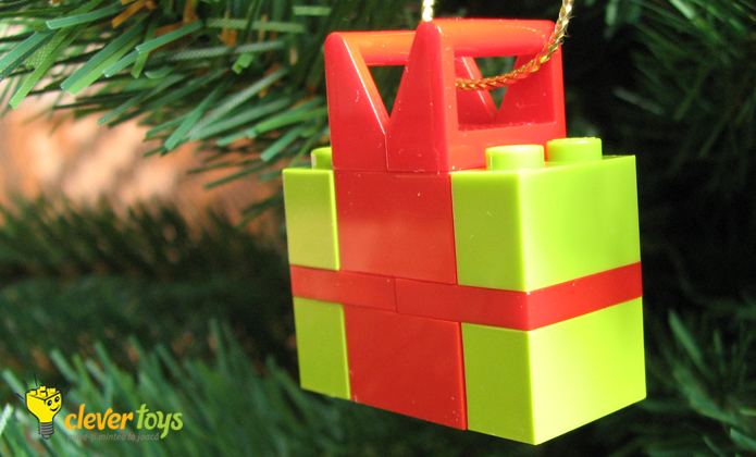LEGO Christmas Present Ornament by Clever Toys