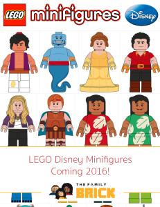 LEGO Disney Minifigures Coming 2016!