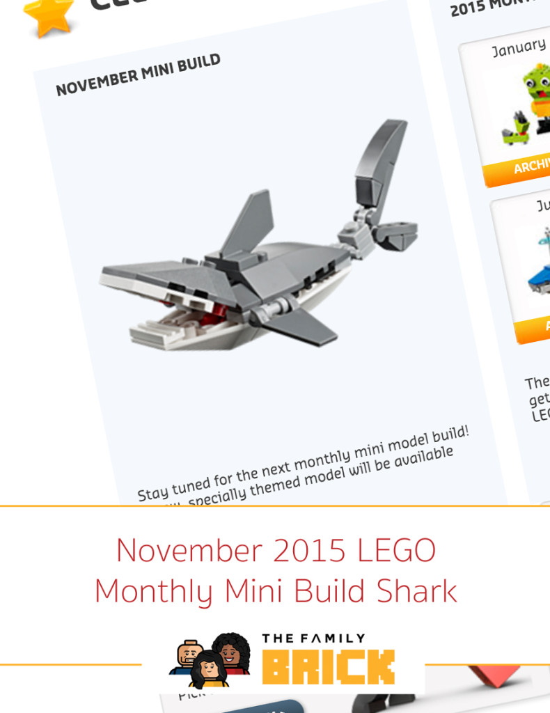 November 2015 LEGO Monthly Mini Build Shark