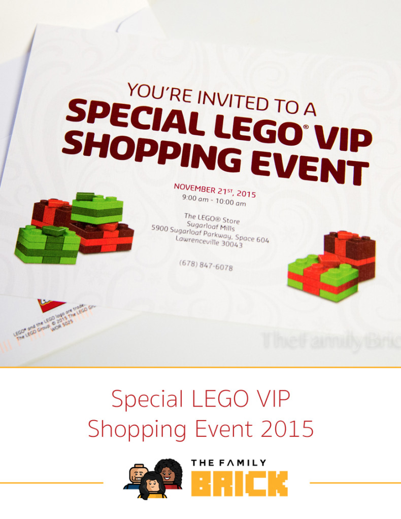 Special LEGO VIP Shopping Event 2015