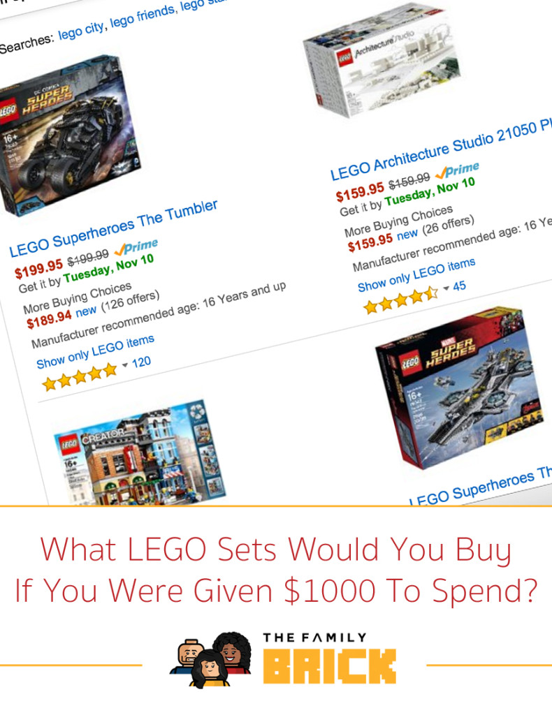 What LEGO Sets Would You Buy If You Were Given $1000 To Spend?