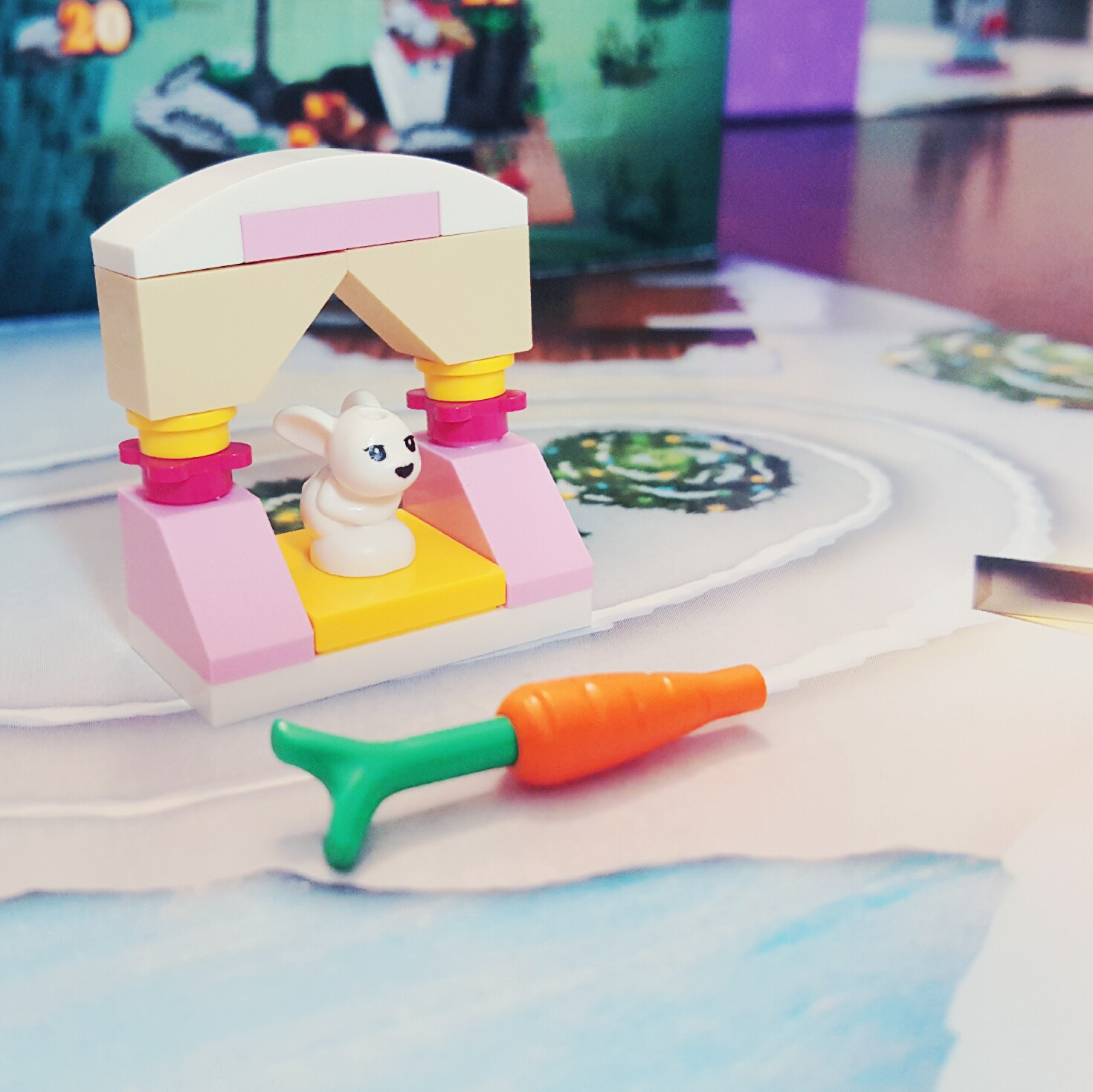 Nom, Nom, Nom - Day 12 Bunny Hutch and Carrot from LEGO Friends Advent Calendar