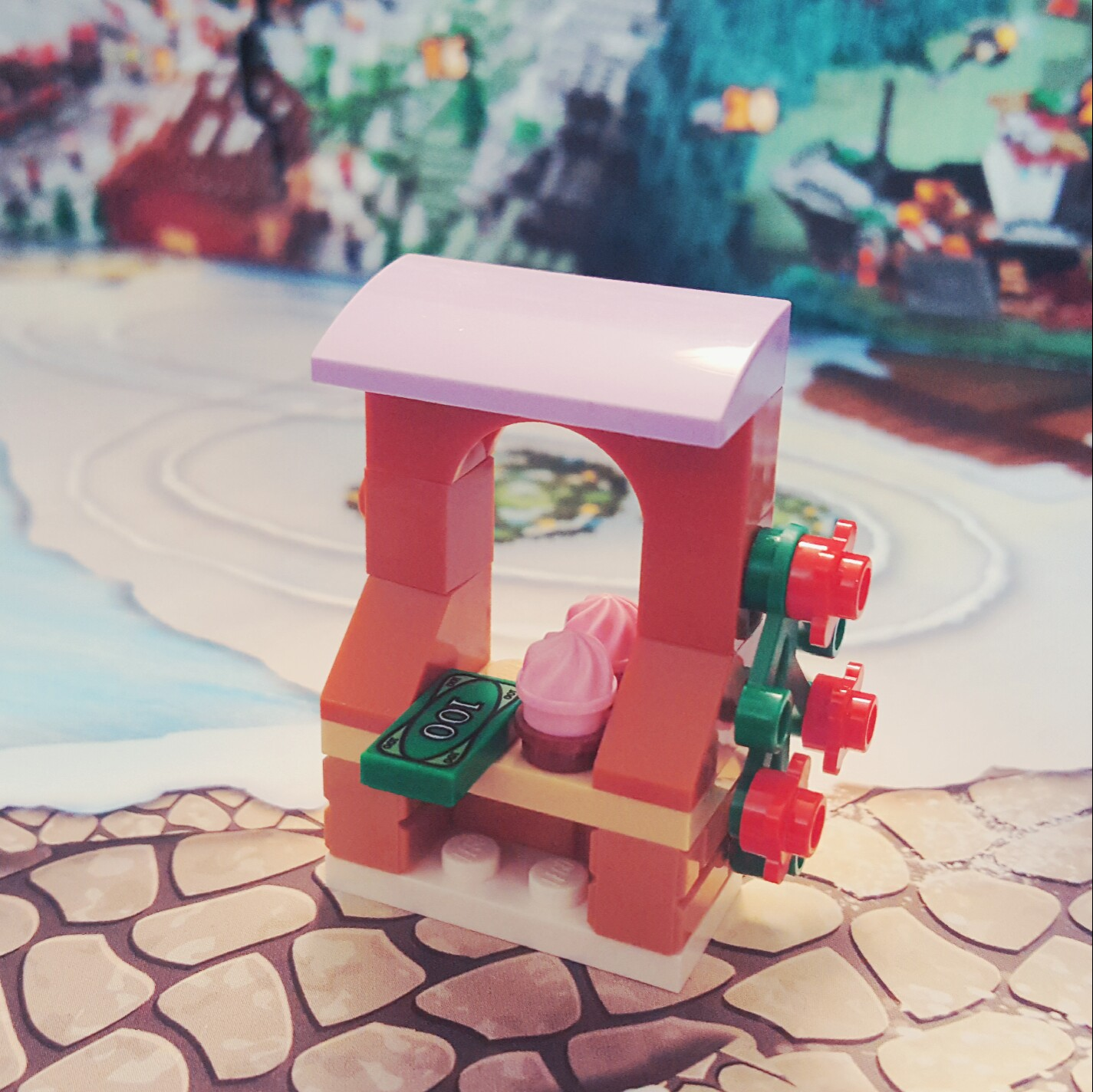 """""""Cupcakes! Cupcakes! Get your cupcakes here!"""" - Day 13 Cupcake Stand from LEGO Friends Advent Calendar"""