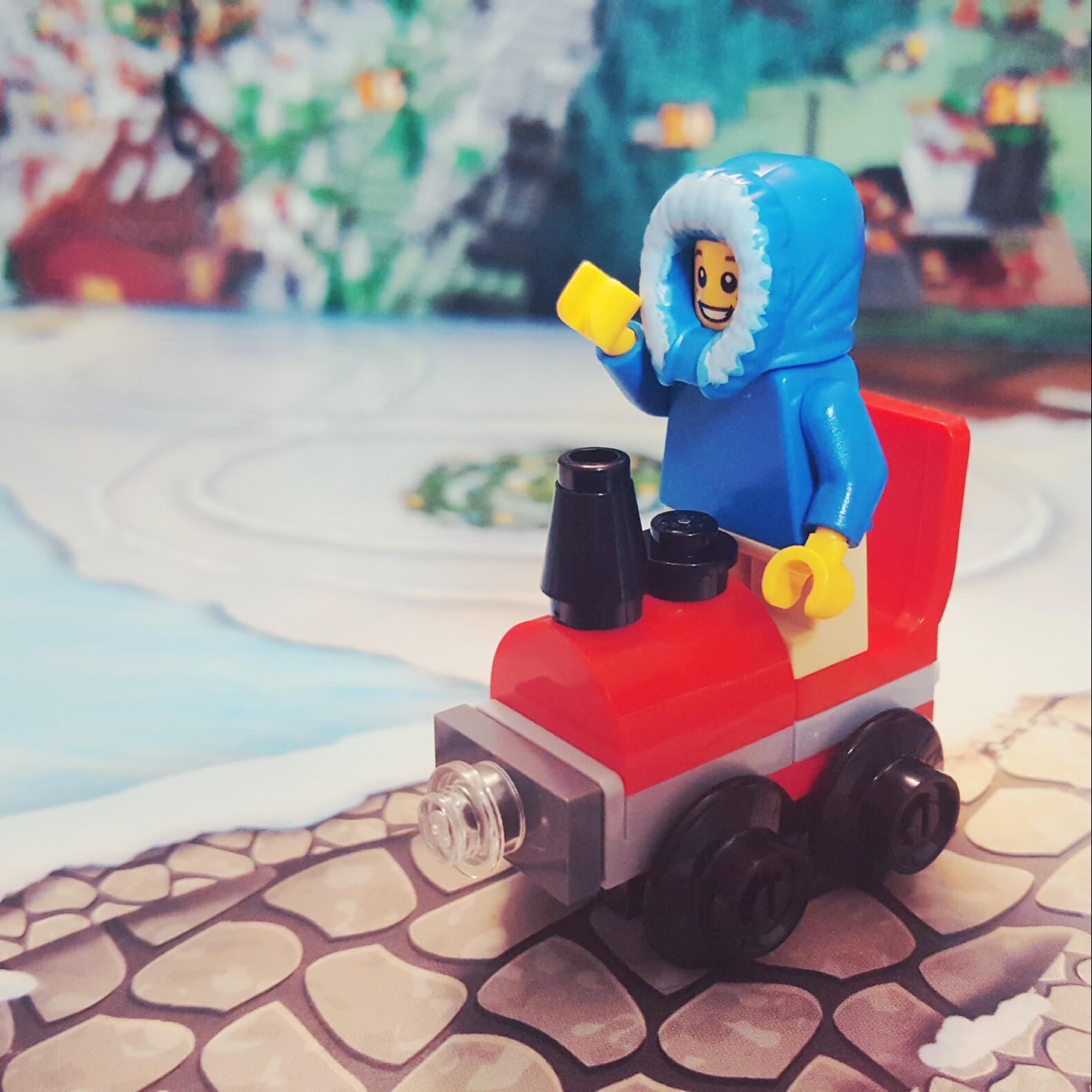 """Choo! Choo!"" - Day 14 Train Locomotive from LEGO City Advent Calendar"