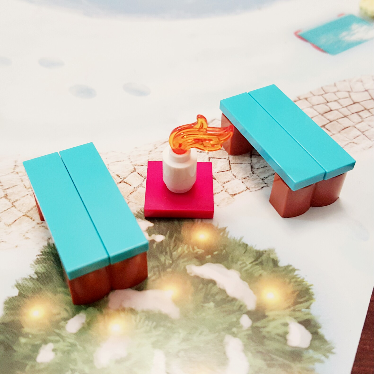 Day 17 Benches and Fire Pit from LEGO Friends Advent Calendar
