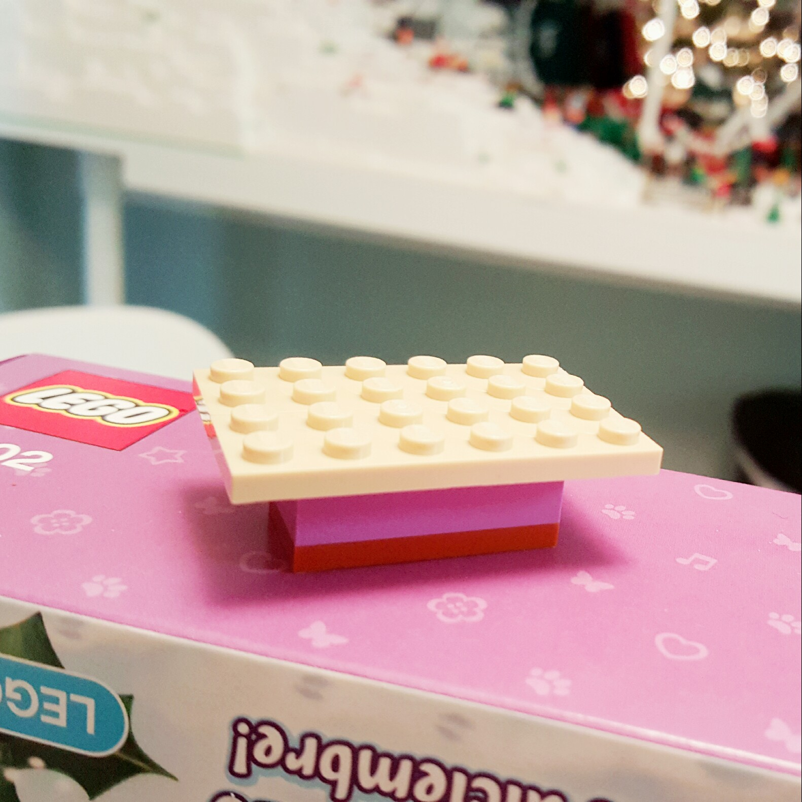 """""""Meh."""" - Day 18 Bench from LEGO Friends Advent Calendar"""