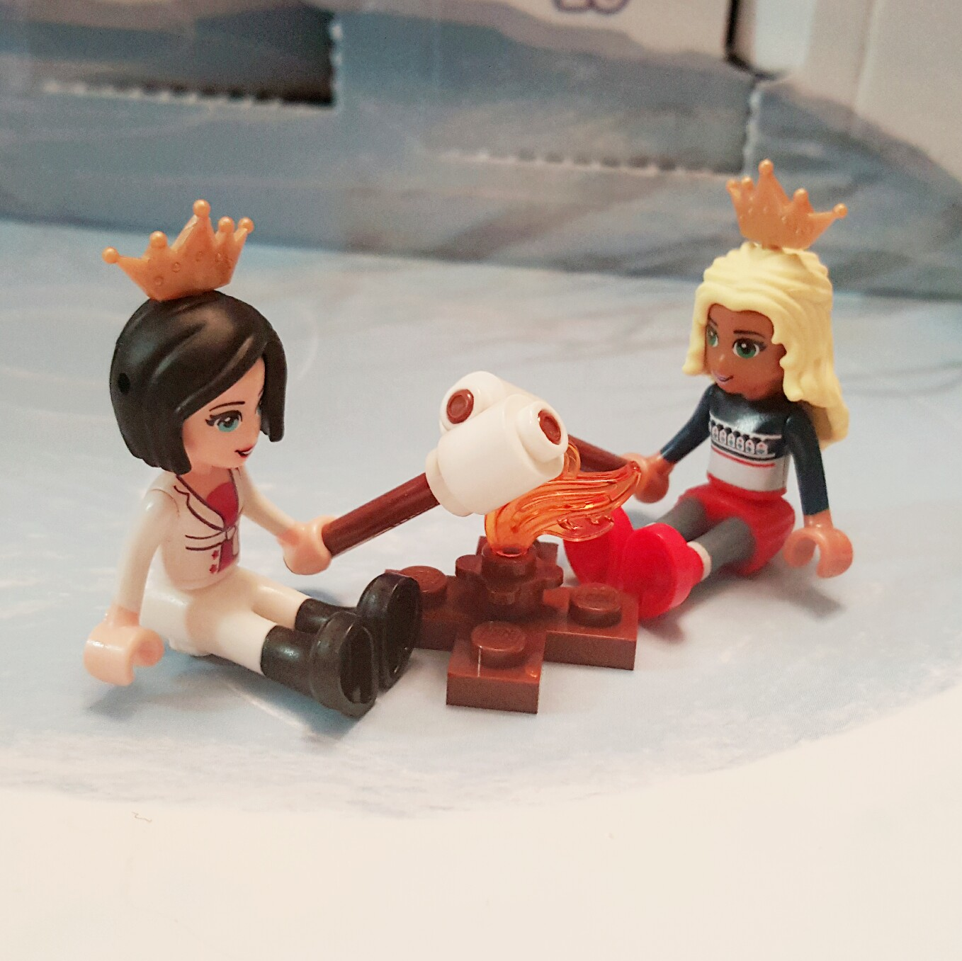 """""""Let's make S'mores!"""" - Day 21 Fire Pit & Marshmallows on Sticks from LEGO Friends Advent Calendar"""