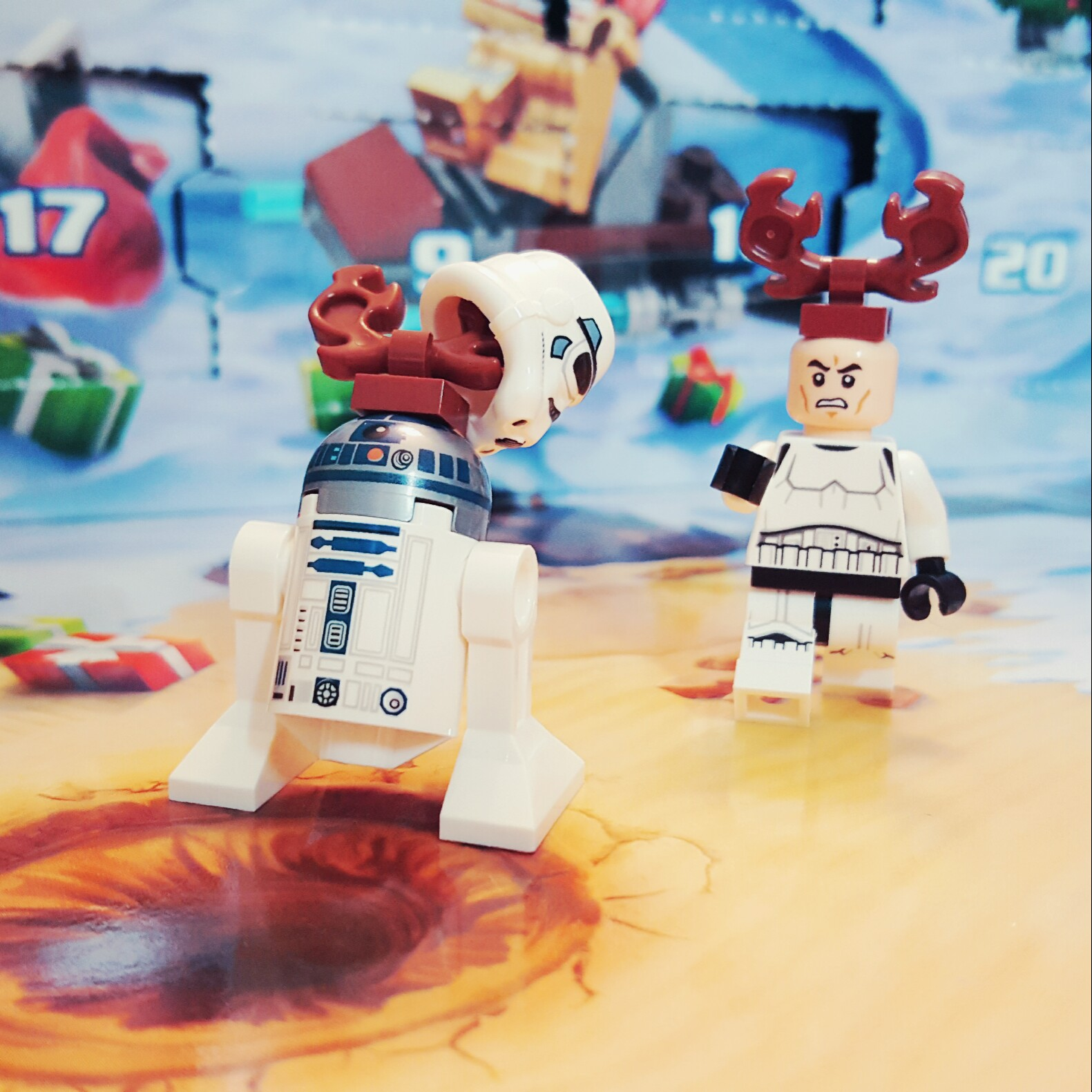 """Come back here with my helmet, droid!"" - Day 22 R2-D2 Reindeer from LEGO Star Wars Advent Calendar"