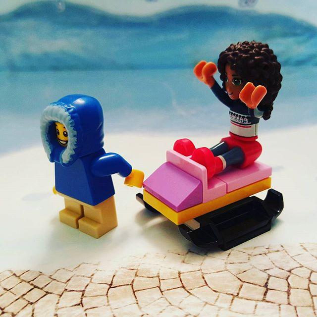 Day 3 of #legofriends #legoadventcalendar - Let's go for a #lego #sleighride! #andrea