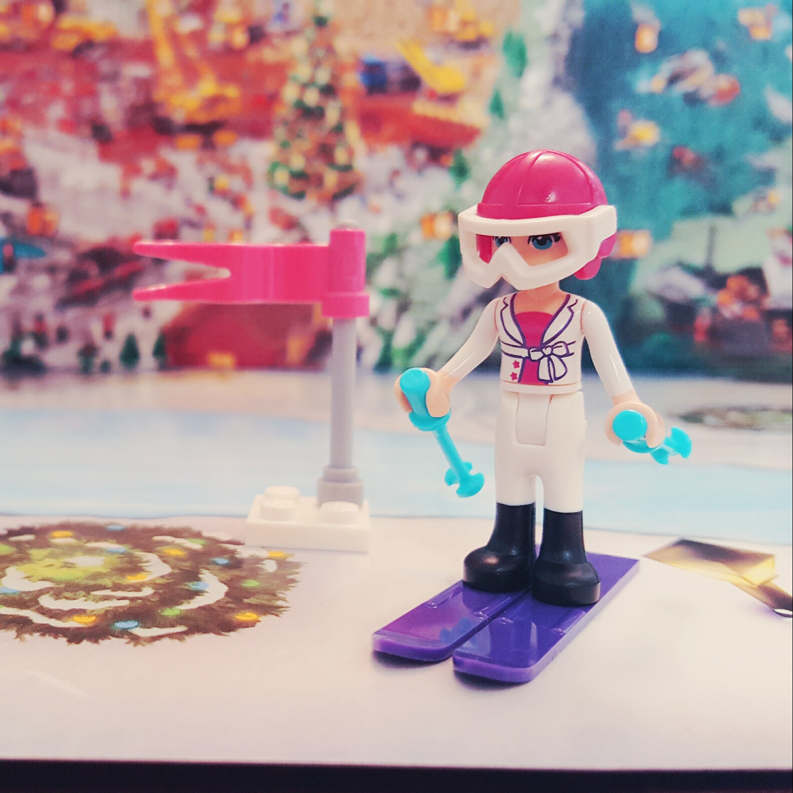 """""""On your left!"""" - Day 6 Ski Equipment from LEGO Friends Advent Calendar"""