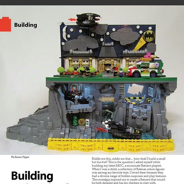 Awesome #LEGO MOC from BrickJournal magazine! #batman
