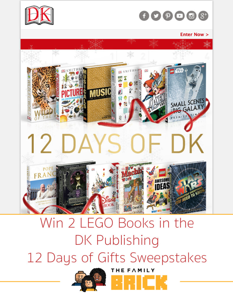 Win 2 LEGO Books in the DK Publishing 12 Days of Gifts Sweepstakes