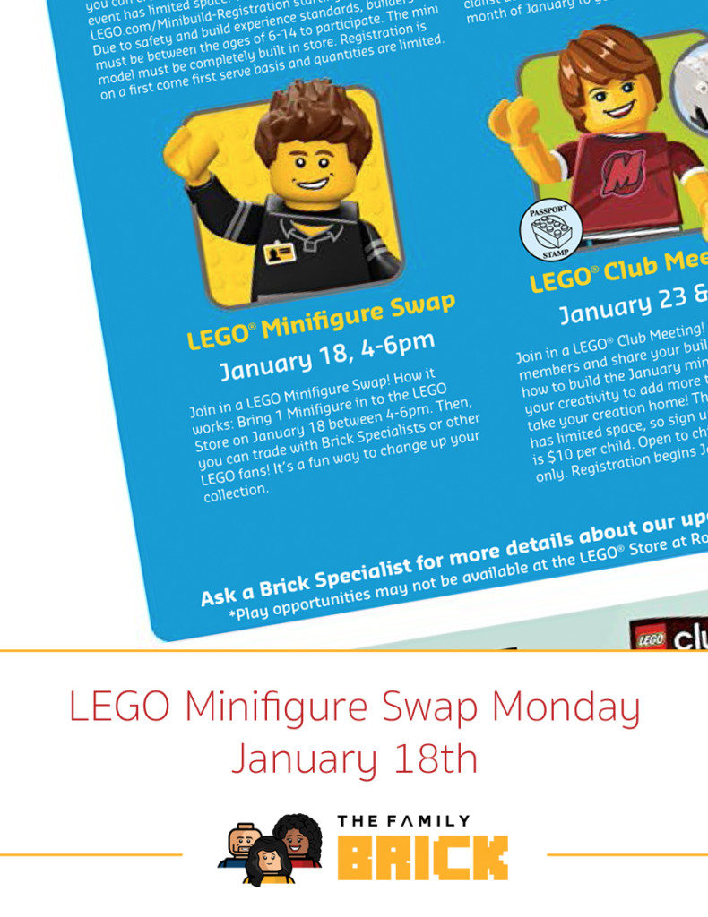 LEGO Minifigure Swap Monday - January 18th