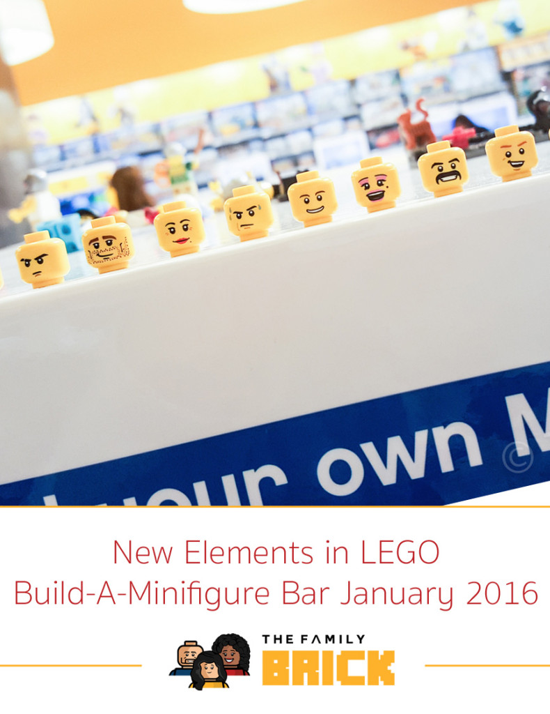 New Elements in LEGO Build-A-Minifigure Bar January 2016