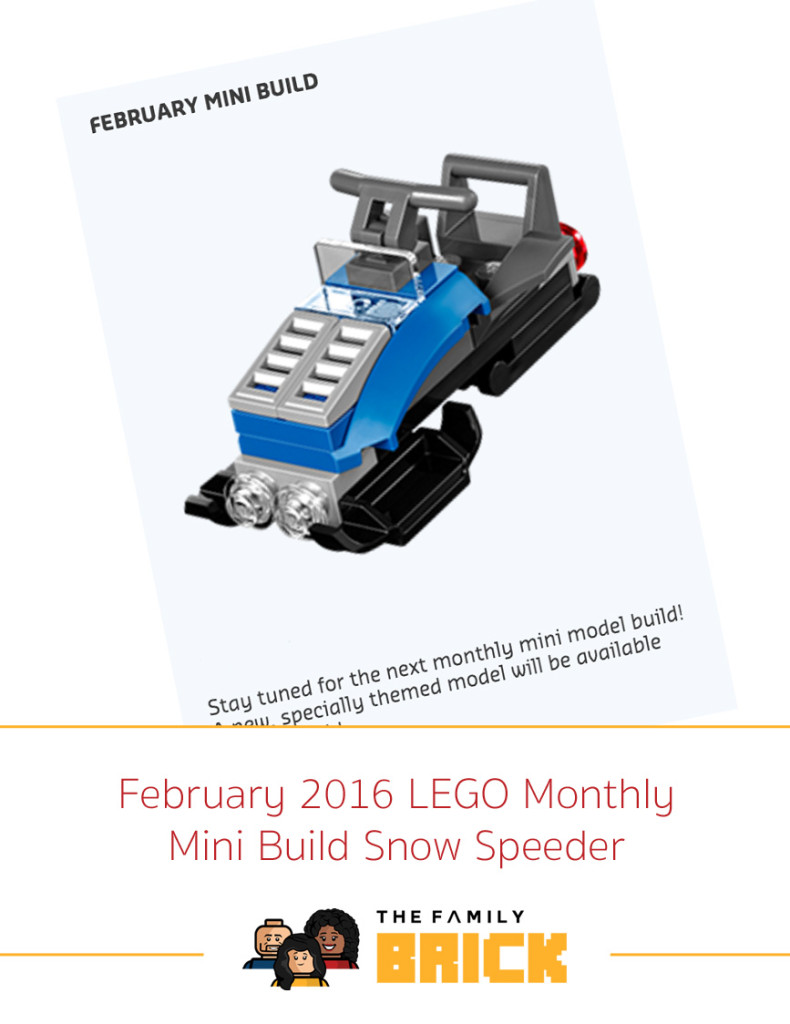 February 2016 LEGO Monthly Mini Build Snow Speeder