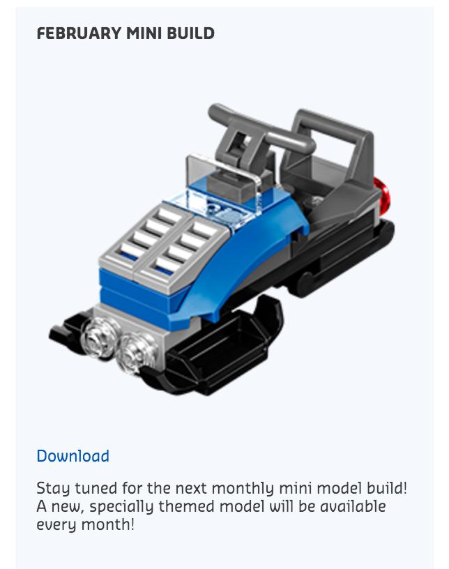 February 2016 LEGO Monthly Mini Build Snow Speeder